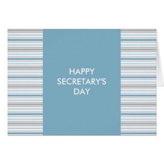 Day del Cornflower Amara de la raya de secretaria Tarjeta De Felicitación