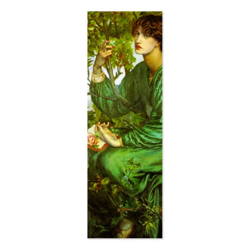 Day Dream Bookmark by Dante Gabriel Rossetti Business Card