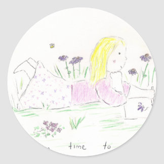 Day Dreaming Classic Round Sticker