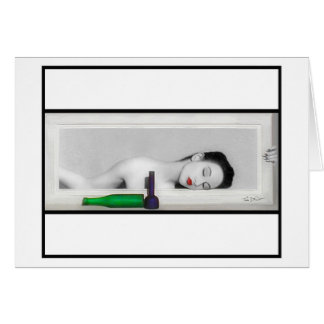 Day Dreaming Geisha Greeting Card