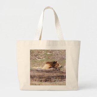 Day Dreaming Grizzly Large Tote Bag