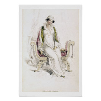 Day dress, fashion plate from Ackermann's Reposito Poster