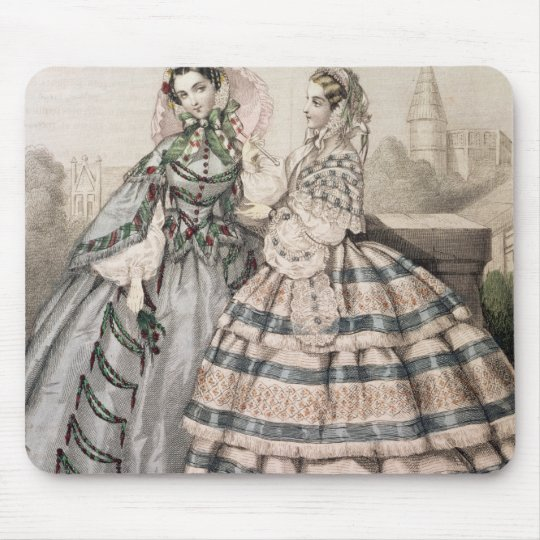 Day Dress for 1858, engraved by Barreau Mouse Pad
