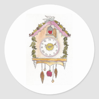 Day Fifty two - Cuckoo Clock Classic Round Sticker