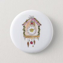 Day Fifty two - Cuckoo Clock Pinback Button