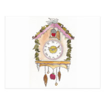 Day Fifty two - Cuckoo Clock Postcard