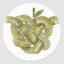 Day Forty seven - Celtic Heart Knot Classic Round Sticker