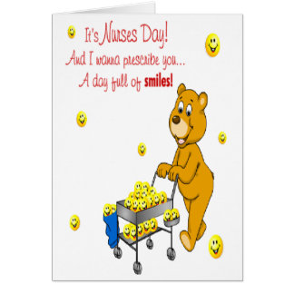 Day Full Of Smiles Nurses Day Greeting Card
