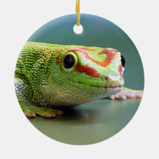 Day Gecko Ceramic Ornament