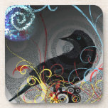 Day Glo Raven Coasters