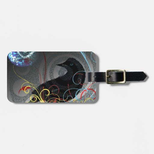 Day Glo Raven Travel Bag Tags
