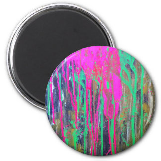 day glo sludge by SLUDGEart 2 Inch Round Magnet