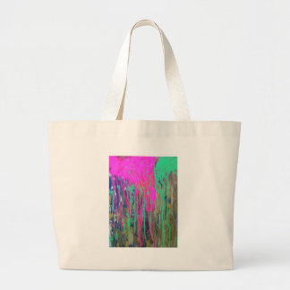day glo sludge by SLUDGEart Large Tote Bag