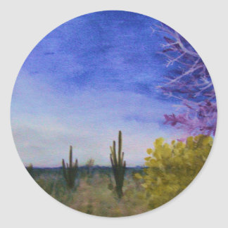 Day in the Arizona Desert Landscape Outside Classic Round Sticker