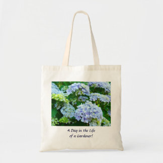 Day in the Life of a Gardener! Tote bag Hydrangeas