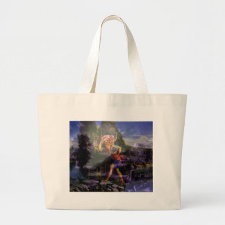 Day Into Night with Dad Large Tote Bag