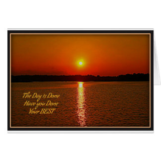 Day is Done Card