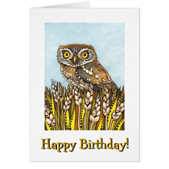 Day is full of joy - pearl-spotted owl card