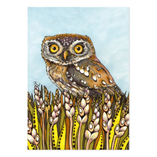 Day is full of joy - pearl-spotted owl large business card