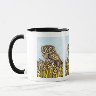 Day is full of joy - pearl-spotted owl mug