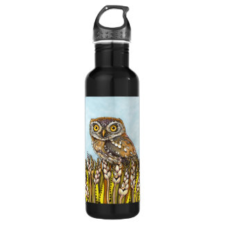 Day is full of joy - pearl-spotted owl 24oz water bottle
