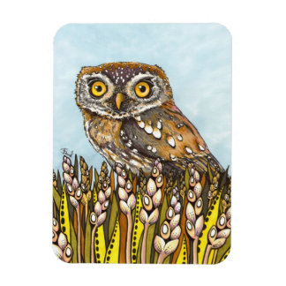 Day is full of joy - pearl-spotted owl rectangular photo magnet