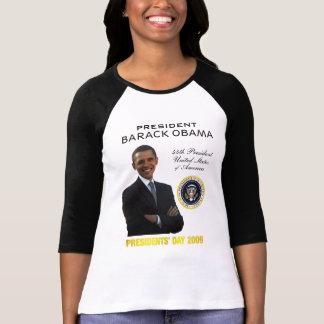 Day Ladies T-shirt de Obama de presidentes Playera
