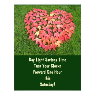 Day Light Savings Time Flyers Turn Clocks Forward