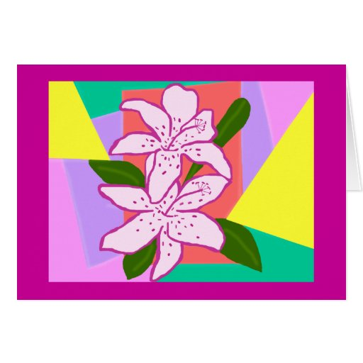 Day lilies blank card