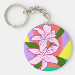 Day lilies key chain