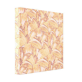 Day Lilies Sketch on Wrapped Canvas Print