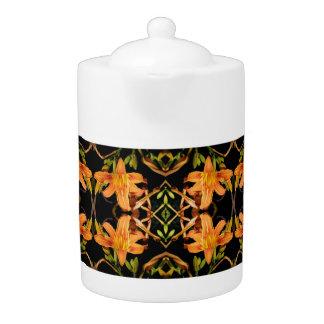 Day Lilies Teapot