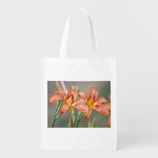 Day lily grocery bags