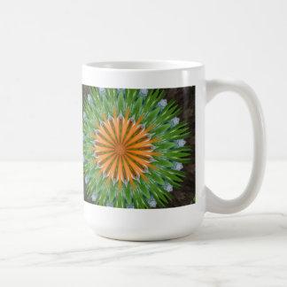 Day Lily Kaleidoscope Design Classic White Coffee Mug