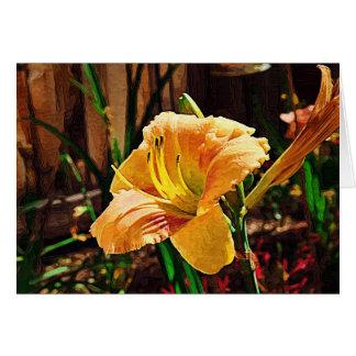 Day Lily No. 2 Impasto Card