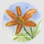 Day Lily Painting Stickers