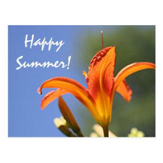 Day lily photo postcard