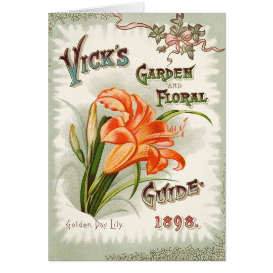 Day Lily Seed Packet Vintage Card