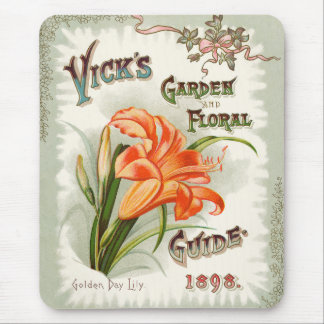 Day Lily Seed Packet Vintage Mousepad