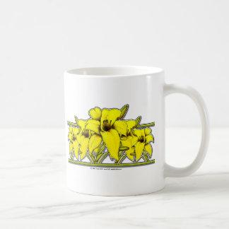 Day Lily Strip Classic White Coffee Mug