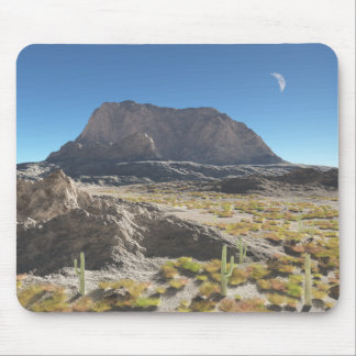 Day Moon Desert Mouse Pad