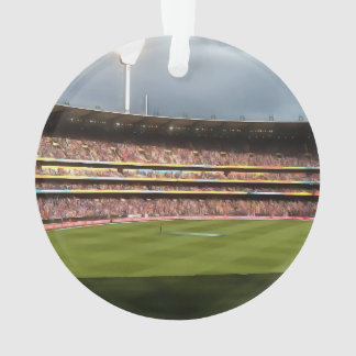 Day night cricket match ornament