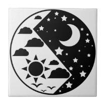 Day & Night Yin Yang Ceramic Tile