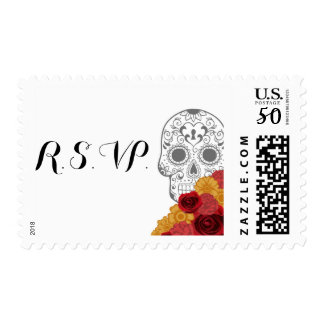 Day of Dead Dia Los Muertos Custom Postage Stamp