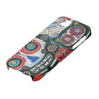 Day of  Dead - Mexican Woman & Black Cat - iPhone iPhone 5 Cases