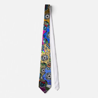 DAY OF DEAD NECK TIE