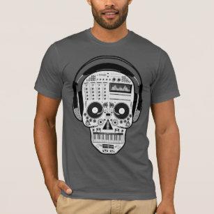486fa93ed21 Day Of Dead Sugar Skull w  Turntables   Headphones T-Shirt