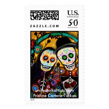 unitedfolkartists Day of Dead-Wedding Stamps