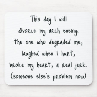Day of Divorce Souvenir Mouse Pad