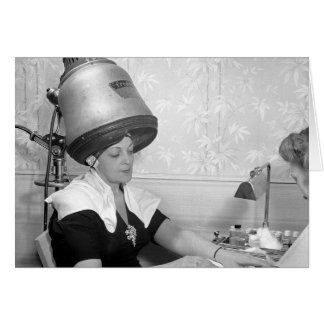 Day of Glamour Vintage Beauty Parlor New York City Greeting Card